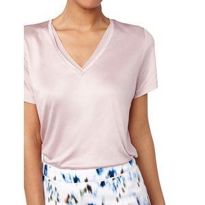 REISS - V neck cloud t shirt Blush, XS